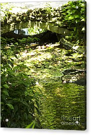 Pond Bridge Acrylic Print