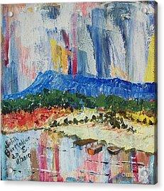 Pond By Massanutten Peak - Sold Acrylic Print by Judith Espinoza
