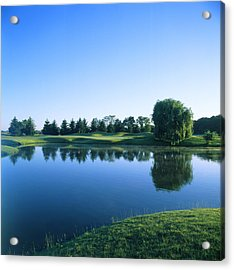 Pond In A Golf Course, Rich Harvest Acrylic Print