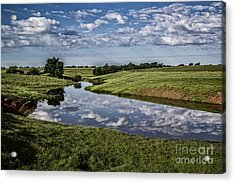 Pond Reflections Acrylic Print by Jim McCain