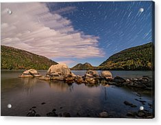 Pond Trails Acrylic Print by Kristopher Schoenleber