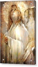 Pondering Angel Acrylic Print