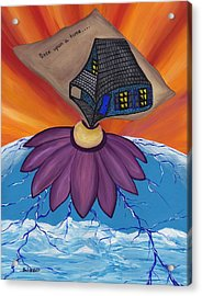 Pondering Creation - Once Upon A Time Acrylic Print by Barbara St Jean