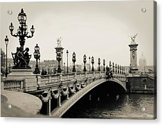 Pont Alexandre IIi, Paris, France Acrylic Print