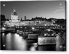 Acrylic Print featuring the photograph Pont Des Arts And Institut De France / Paris by Barry O Carroll