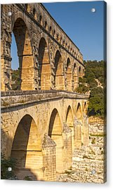 Pont Du Gard Roman Aquaduct Languedoc-roussillon France Acrylic Print by Colin and Linda McKie