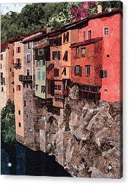 Pont En Royans Acrylic Print by Lenore Crawford