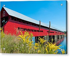 Acrylic Print featuring the photograph Pont Marchand by Bianca Nadeau