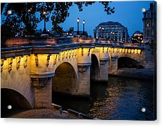 Pont Neuf Bridge - Paris France Acrylic Print