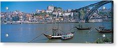 Ponte De Dom Luis I & Douro River Porto Acrylic Print by Panoramic Images