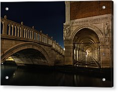 Ponte Della Paglia Acrylic Print by Marion Galt