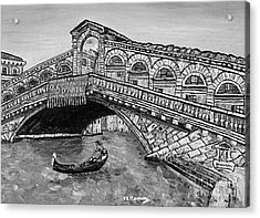 Ponte Di Rialto Acrylic Print by Loredana Messina