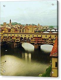 Ponte Vecchio 2 Acrylic Print by Ellen Henneke