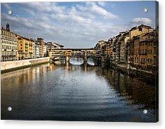 Ponte Vecchio Acrylic Print by Dave Bowman