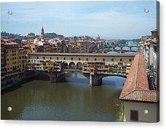 Ponte Vecchio Acrylic Print by David Nichols