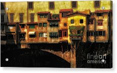 Ponte Vecchio Firenze Acrylic Print by Mike Nellums