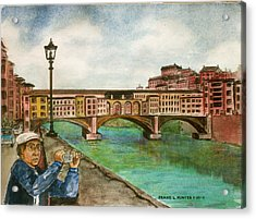 Ponte Vecchio Florence Italy Acrylic Print by Frank Hunter