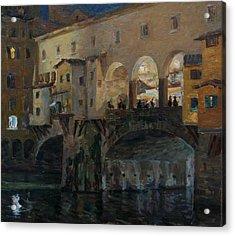 Ponte Vecchio Acrylic Print by Korobkin Anatoly