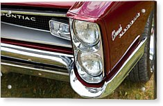 Acrylic Print featuring the photograph Pontiac Detail by Mick Flynn