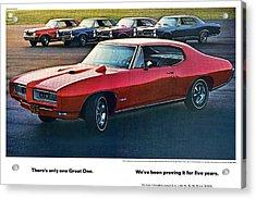 Pontiac Gto - 1964 1965 1966 1967 1968 Acrylic Print by Digital Repro Depot