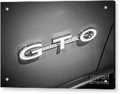 Pontiac Gto Emblem Acrylic Print by Paul Velgos