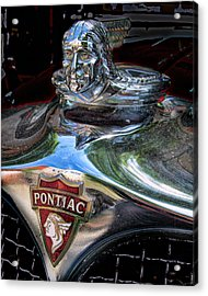 Pontiac Hood Ornament Acrylic Print by Victor Montgomery