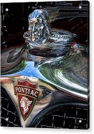 Pontiac Hood Ornament Acrylic Print