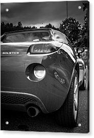 Pontiac Solstice Rear View Acrylic Print