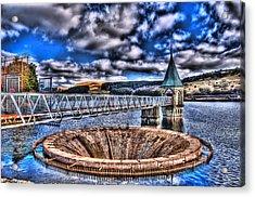 Pontsticill Reservoir Merthyr Tydfil Acrylic Print by Steve Purnell