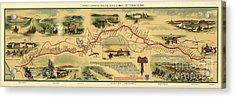 Pony Express Map William Henry Jackson Acrylic Print by William Henry Jackson