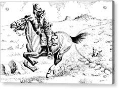 Pony Express Rider Acrylic Print