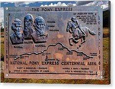 Pony Express Route Acrylic Print