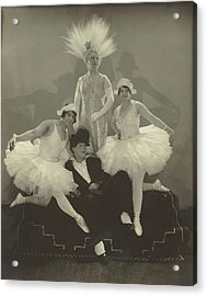 Poodles Hanneford With Fellow Circus Performers Acrylic Print