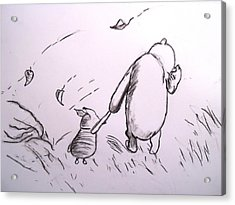 Pooh And Piglet Acrylic Print