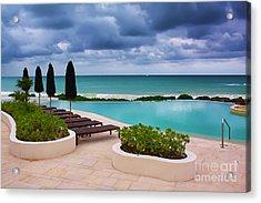 Acrylic Print featuring the photograph Pool At Rosewood Mayakoba by Teresa Zieba
