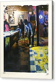 Pool Hall - The Rusty Nail Polaroid Transfer Acrylic Print