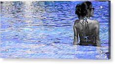Pool Acrylic Print by J Anthony
