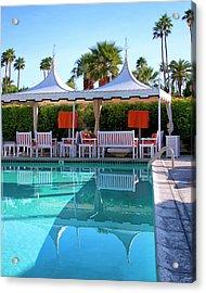 Pool Pavillions Palm Springs Acrylic Print