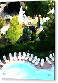 Acrylic Print featuring the painting Pool - Piscina by Ze  Di