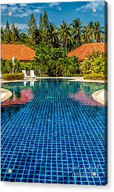 Pool Time Acrylic Print by Adrian Evans