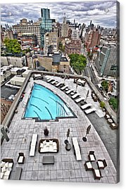 Pool With A View Acrylic Print