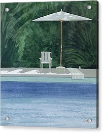 Poolside, 1994 Acrylic On Paper Acrylic Print