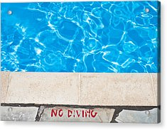 Poolside Warming Acrylic Print by Tom Gowanlock
