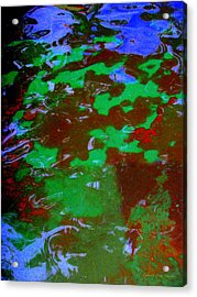 Poolwater Abstract Acrylic Print by Deborah  Crew-Johnson
