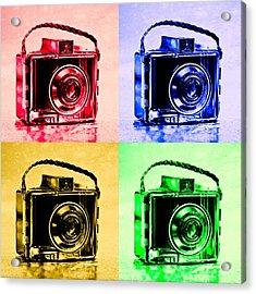 Pop Art Brownie Cameras Acrylic Print