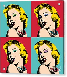 Pop Art Collage  Acrylic Print by Mark Ashkenazi