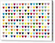 Pop Art Heart Acrylic Print by Mark Preston