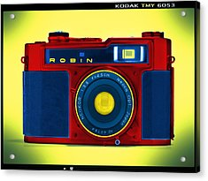 Pop Art Robin Acrylic Print by Mike McGlothlen