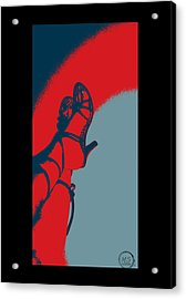 Pop Art Shoes In Red Acrylic Print