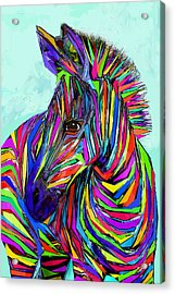 Pop Art Zebra Acrylic Print